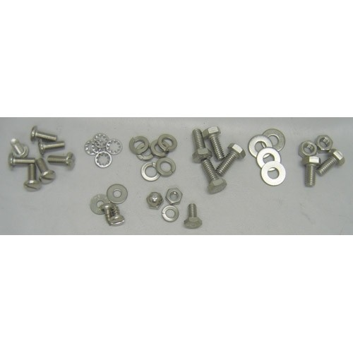 Stainless Hood Latch, Catch, Braces & Hinges Bolt Kit