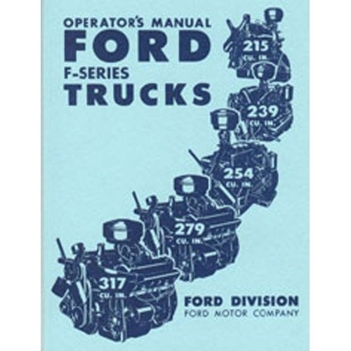 1952 Pickup Owners Manual