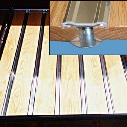 Aluminum Bed Strip with Hidden Fasteners