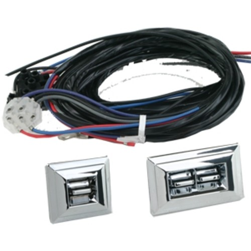 Chrome Door Panel Mount Switch Kit