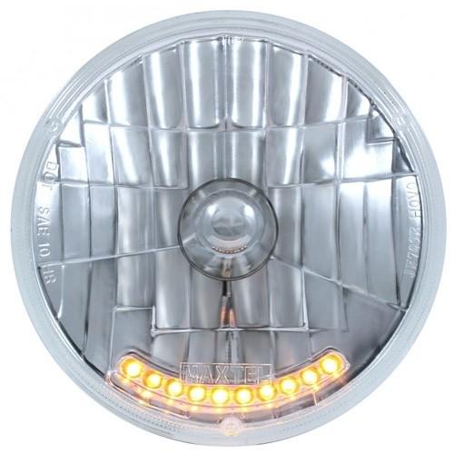 """10 LED 7"""" Crystal Headlight"""
