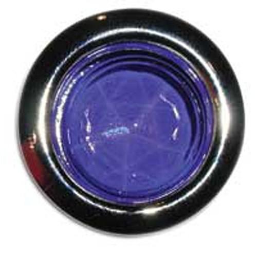 Glass Blue Dot With Chrome Rim