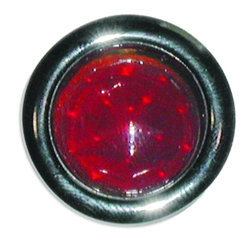 Glass Red Dot With Stainless Rim