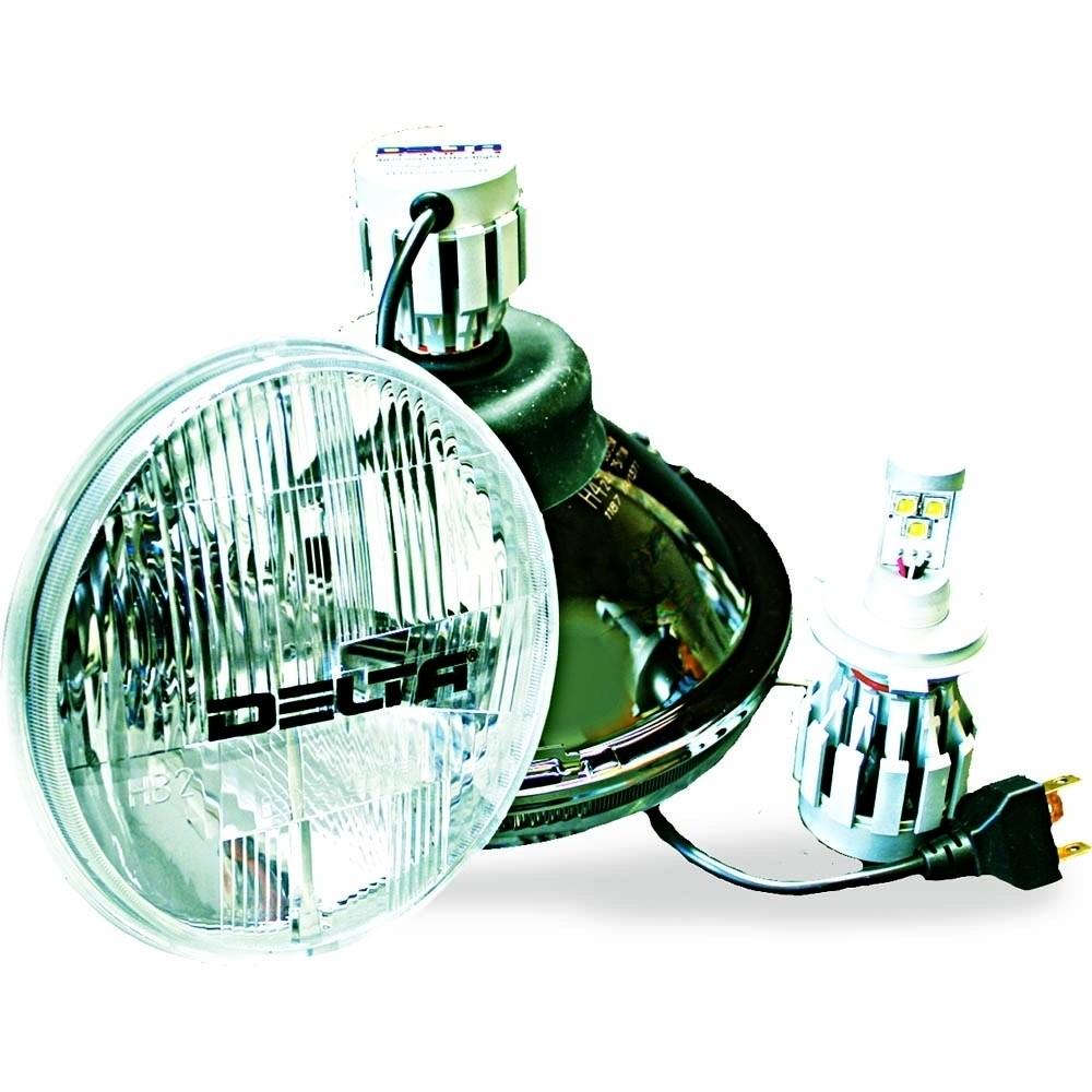 """Universal 7"""" DOT HI/LO LED Headlight & Blinker System"""