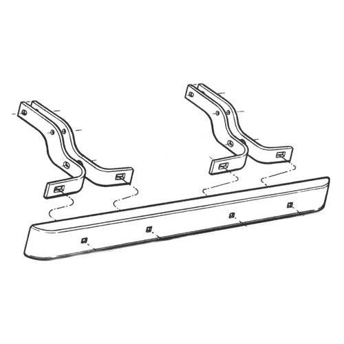 Rear Bumper Bracket Set