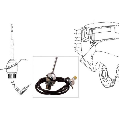 Cowl Mount Radio Antenna Assembly