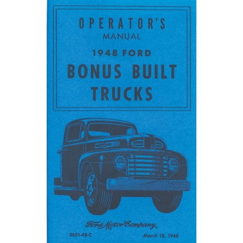 1948 Pickup Owners Manual