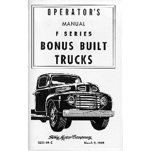 1949 Pickup Owners Manual