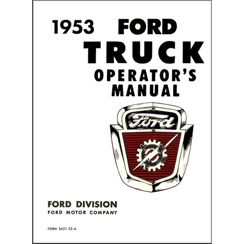 1953 Pickup Owners Manual