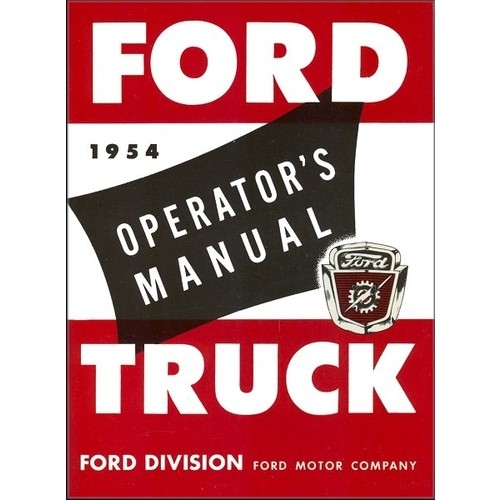 1954 Pickup Owners Manual