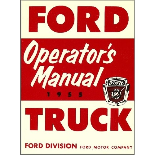 1955 Pickup Owners Manual