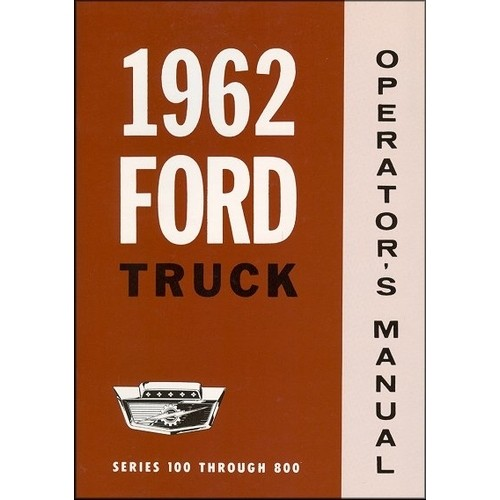 1962 Pickup Owners Manual