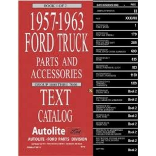 1957-63 Ford Truck Text Catalog