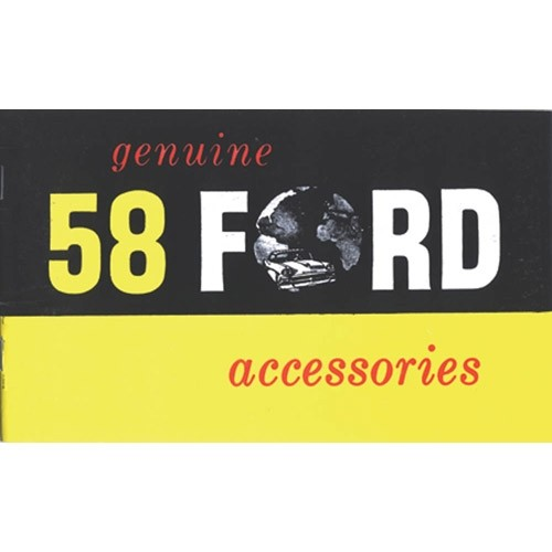 1958 Ford Specification & Accessory Manual