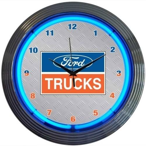 Ford® Trucks Neon Clock