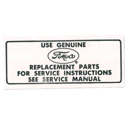 SERVICE INSTR. DECAL