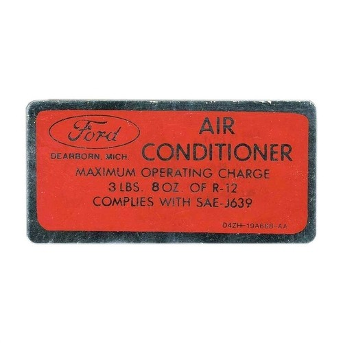 1974-78 Air Condition Charge Decal