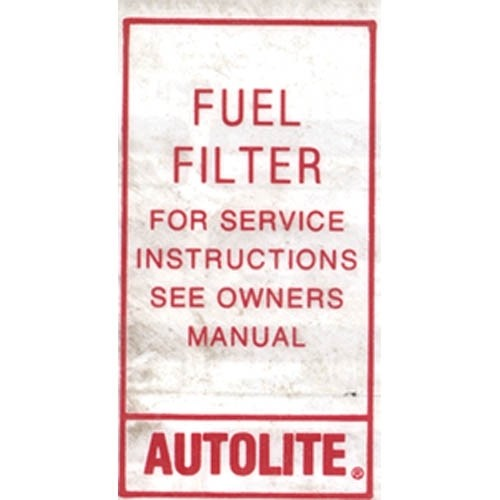 FUEL FILTER DECAL