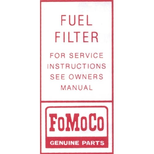 FUEL PUMP FILTER DECAL