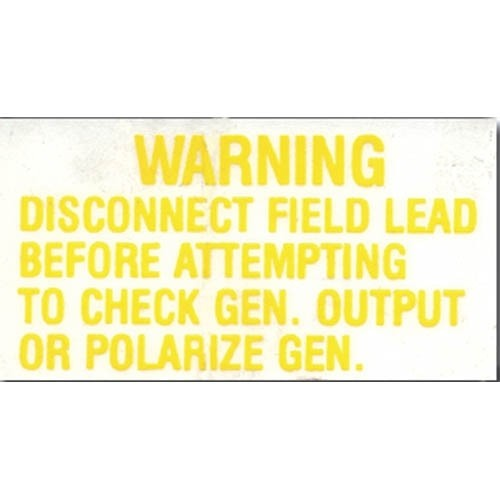REGULATOR WARNING DECALS