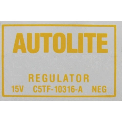 VOLTAGE REGUALTOR DECAL