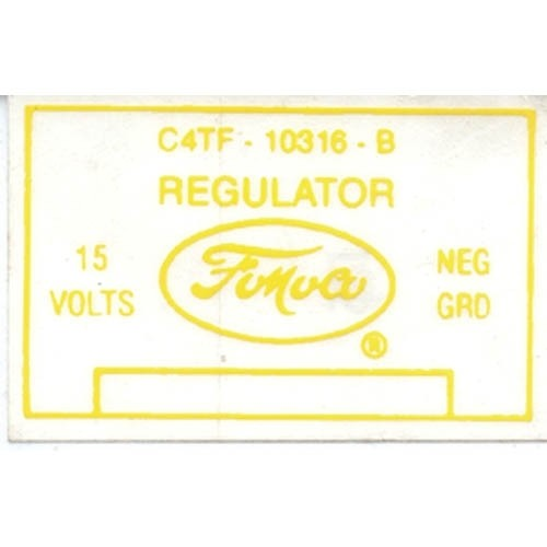 VOLTAGE REG. DECAL