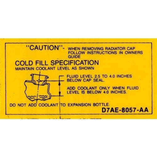 1977-86 Coolant Caution Decal