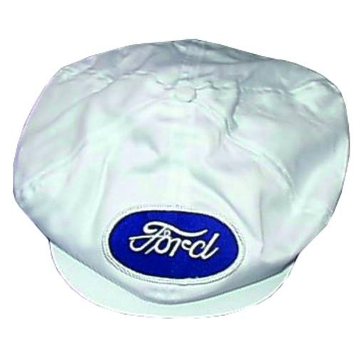 Ford® Script White Gatsby Cap