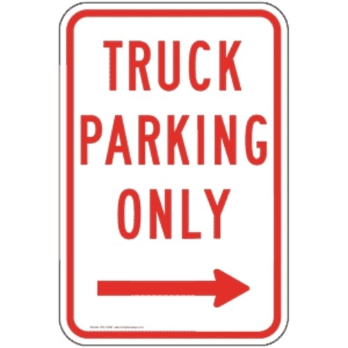 Truck Parking Only Sign