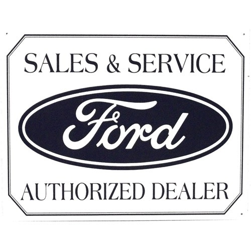 FORD® Sales & Service Tin Sign