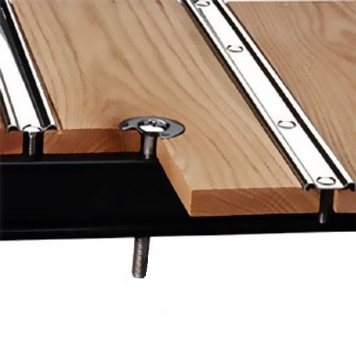 Oak Wood & Polished Stainless Steel Strip Bed Kit