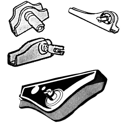 Vent Window Bracket & Handle Shaft Assembly