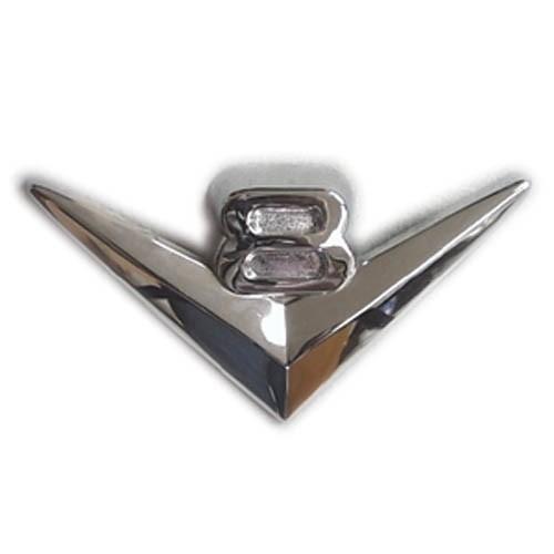 V8 Chrome Grille Emblem
