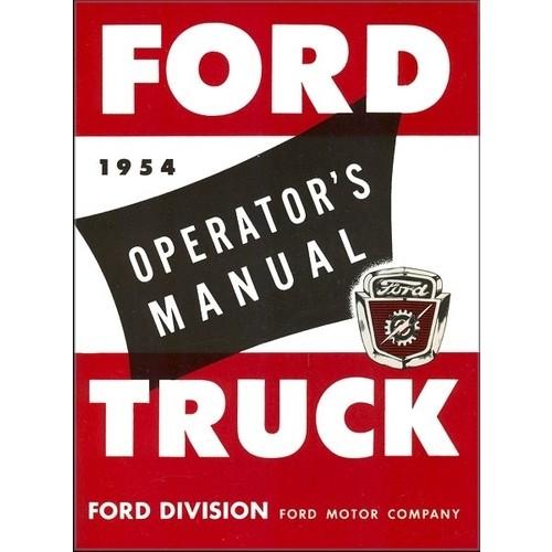 1954 Pickup Owners Manual