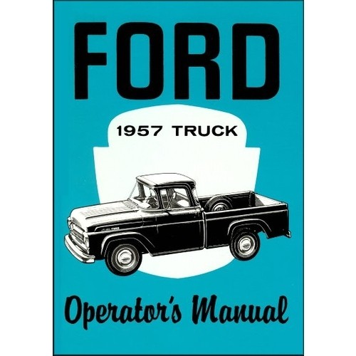 1957 Pickup Owners Manual