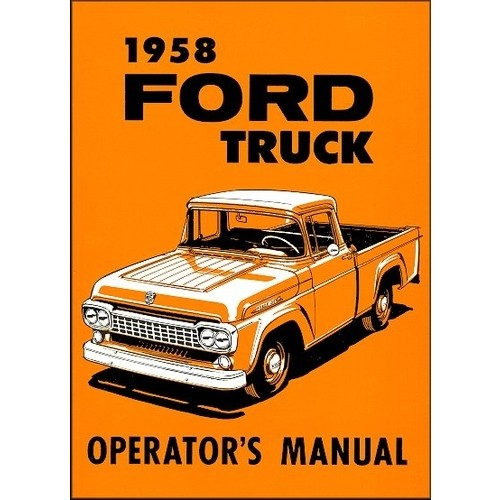 1958 Pickup Owners Manual