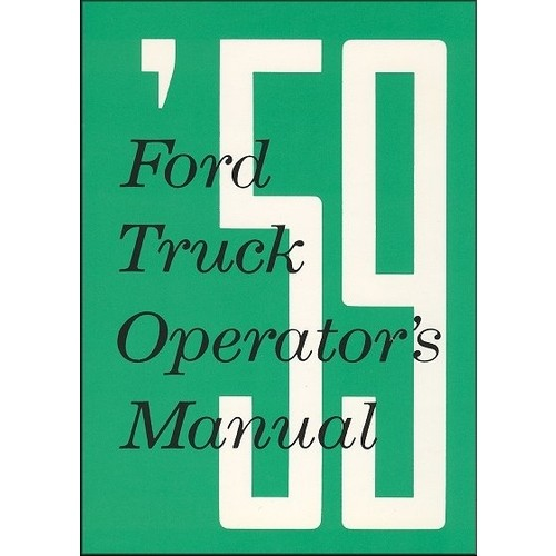 1959 Pickup Owners Manual