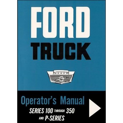 1963 Pickup Owners Manual