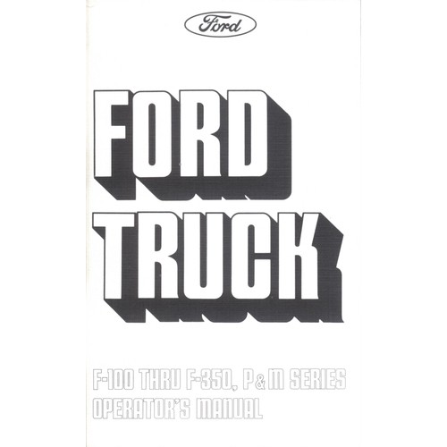 1975 F100/350 Owners Manual