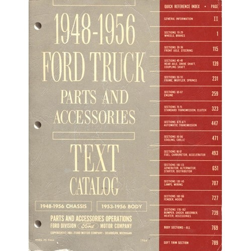 1948-56 Ford® Truck Text Catalog