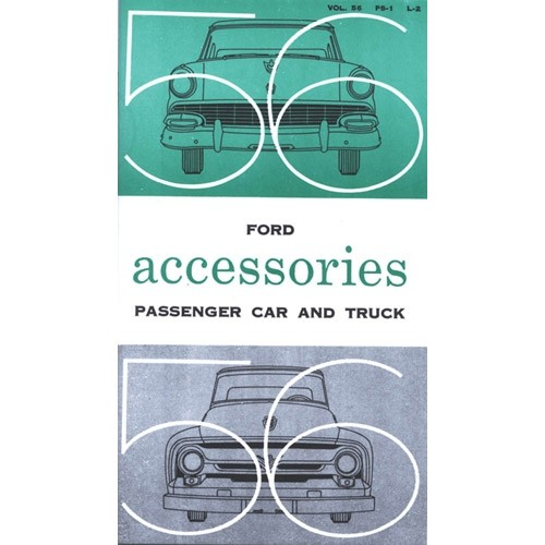 1956 Ford Specification & Accessory Manual
