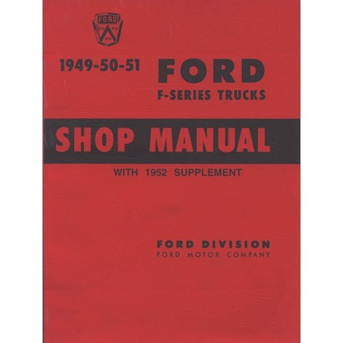 1949-52 Ford Truck Shop Manual on CD