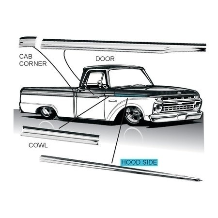 1965-66 Pickup Molding By The Piece