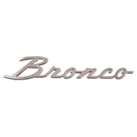 Chrome Bronco Name Plate