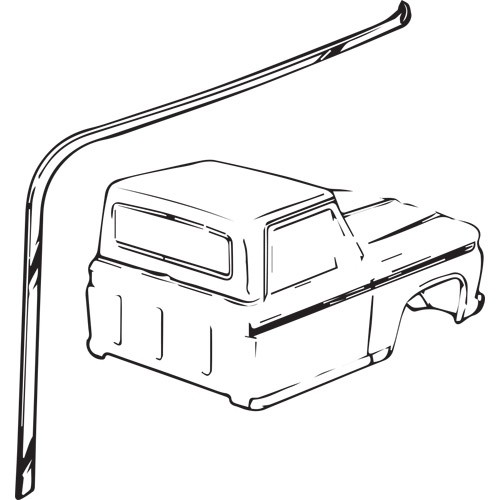 1973-79 Roof Drip Rail Molding RH