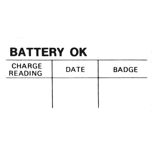 BATTERY O.K. DECAL