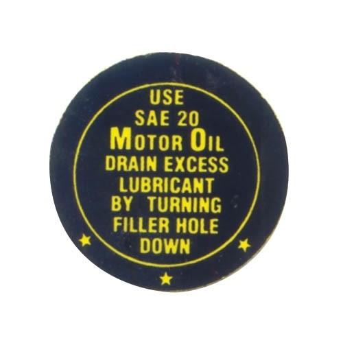 FAN BLADE OIL DECAL