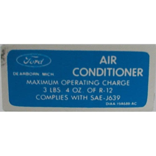 AIR COND. CHARGE DECAL