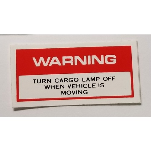 1968-69 Cargo Light Decal