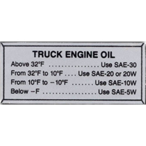 OIL PRESSURE DECAL